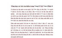 Tổng hợp các bài văn khấn trong Tang lễ Việt Nam (Phần I)